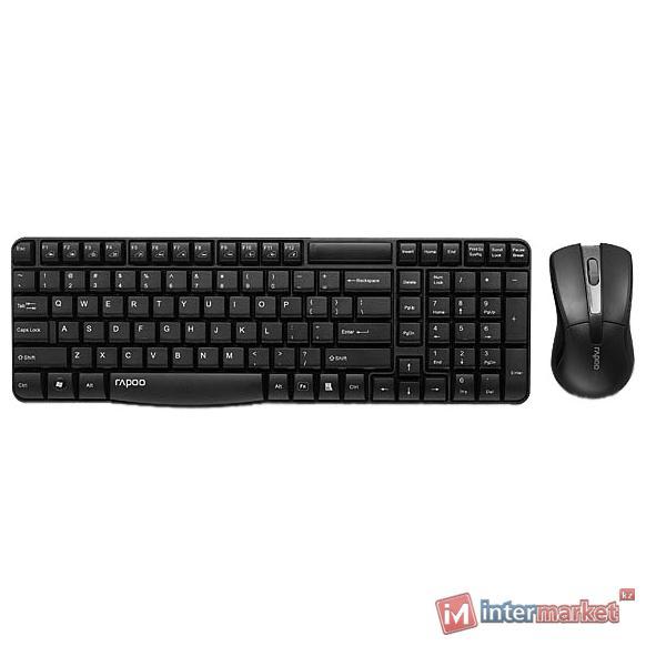 Клавиатура + Мышь, Rapoo, X1800, черный