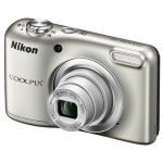 Цифровая камера Nikon CoolPix A10, 16.1Mpx, 4.6-23mm, 5x zoom, JPEG/AVI, f/3.2-6.5, SD, 2xAA, Silver
